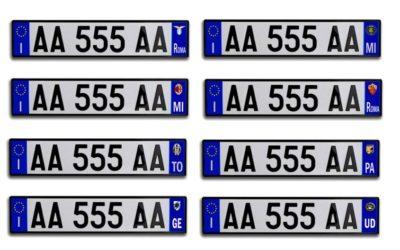 Inserimento della targa del veicolo su D-Pass