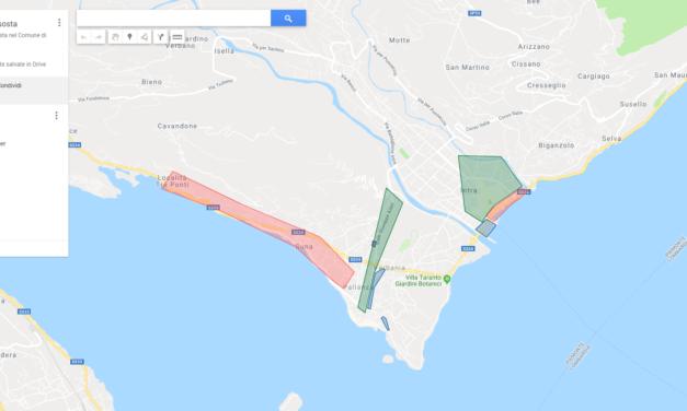 La mappa dei parcheggi di Verbania